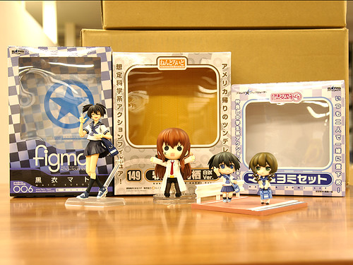 Nendoroid Makise Kurisu: White Coat version and Nendoroid Petit Mato & Yomi set