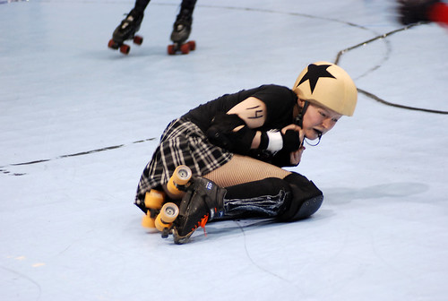 ICT roller girl down