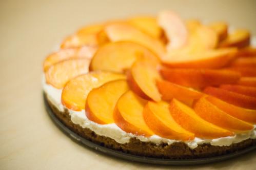 nectarine, mascarpone and gingersnap tart (by bookgrl)