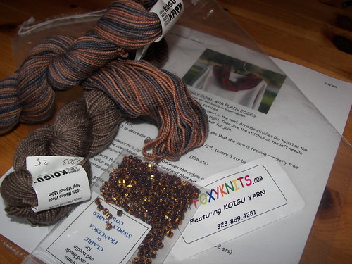 This is the cute scarf kit for after the Christmas knitting is done!