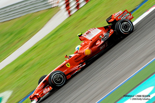Ferrari F1 Car in Sepang Practice Day