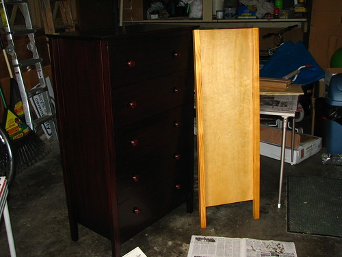 Before & after on dressers