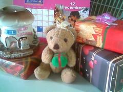 Christmas teddy bear & presents