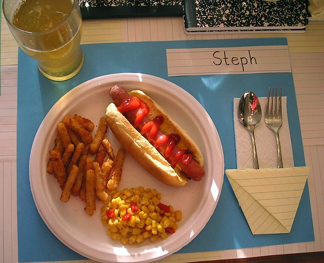 Back to school dinner