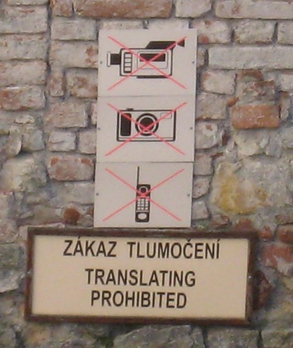 No pictures, no translation when visiting Karlštejn