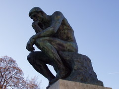 """The Thinker"" statue at the Rodin Museum"