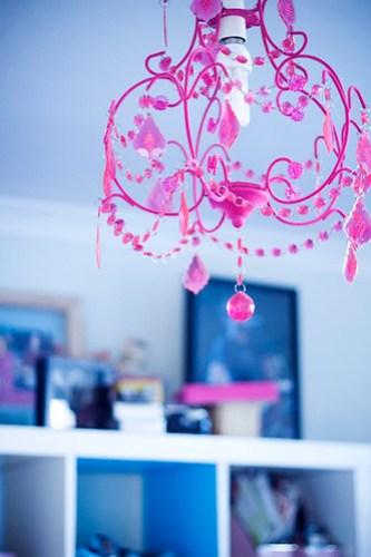 little pink chandelier