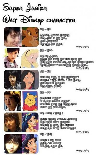 super junior disney character by the 2nd account of cacacaca94.