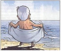 Old man at the beach 3
