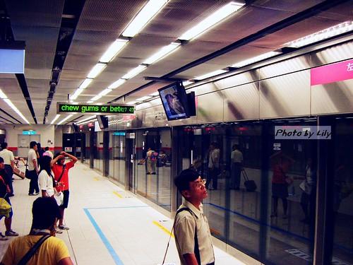 高捷月台區的安全匣門。