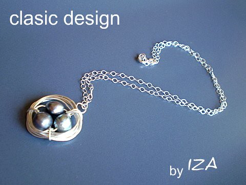 bijuterii-argint-colier-perle-negre-pietre semipretioase by you.