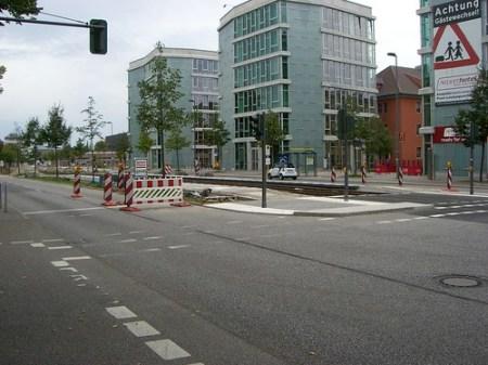 Neue Tramstation in Adlershof