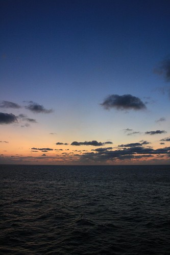 Sunset over Bay of Biscay