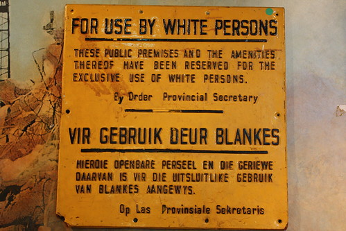 Amenities for Whites Only...