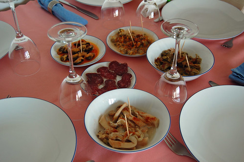 Seafood and Cured Sausage