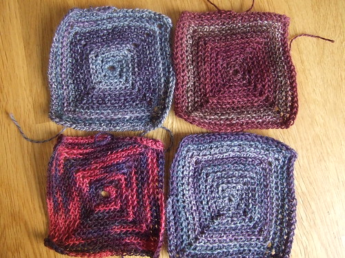 more sock yarn squares