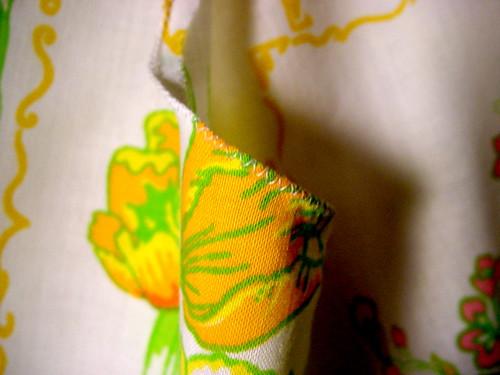 Closeup of Stitching on pillowcase Charlie Bag