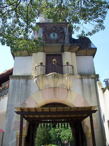 Clock Tower from Courtyard