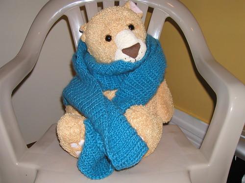 simple fluffy scarf
