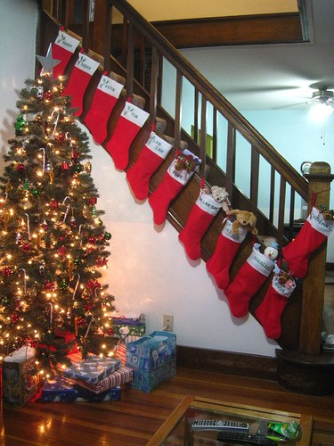 so many stockings we ran out of stairs