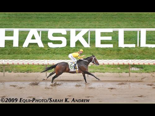 Born To Run! Rachel Alexandra and Calvin Borel win the $1.25 million Haskell Invitational