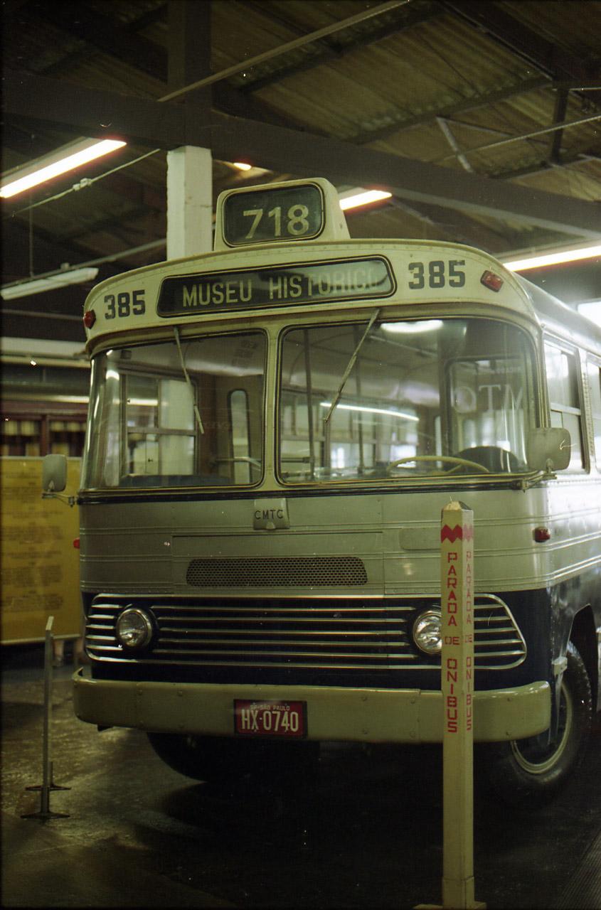 ônibus Monika- Diesel, do Museu do Transporte Público