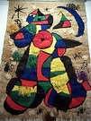 Joan Miró. Tapiz cogado en su fundación.