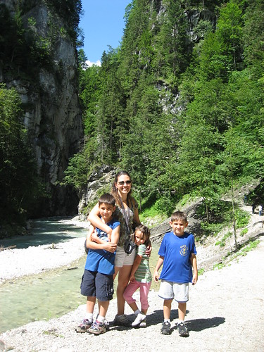 Me and the kids on the other side of the gorge