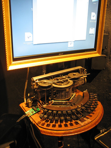 Steampunk Writer Computer Station