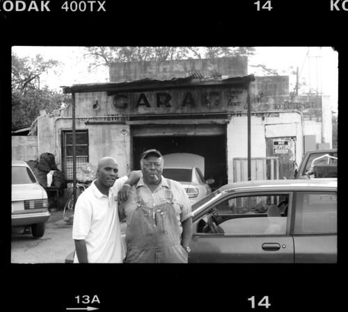 garage with film frame