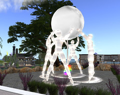 GLBT statue on Fire Island