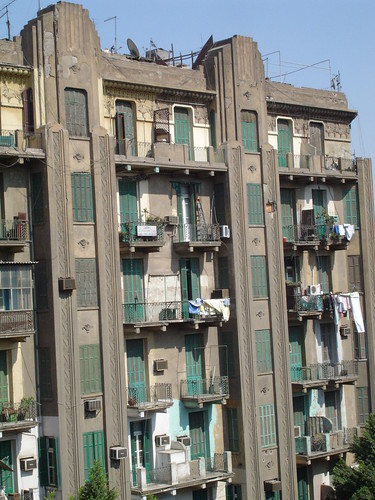 Art Deco building Downtow Cairo (2) by Kodak Agfa.