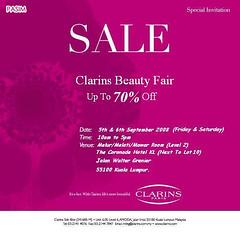 Clarins Paris Beauty Fair 050908