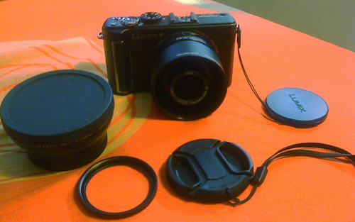 Lumix LX3 with Wide Lens Adapter