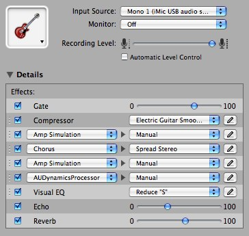 "Custom guitar effects setting - ""Warm 2"""