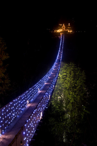 Canyon Lights with Capilano Suspension Bridge  Vancouver Blog Miss604