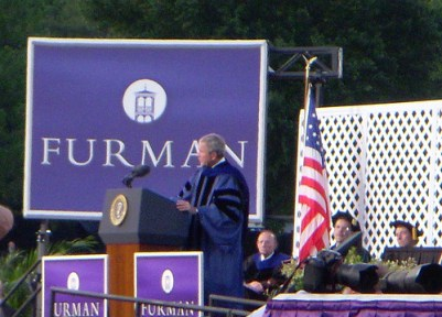 Bush at Furman
