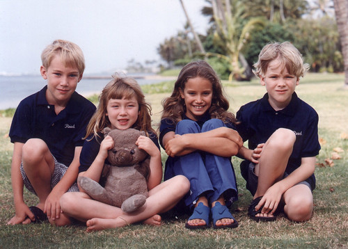Connor, Kelsey, Gina and Austen at 2001 reunion
