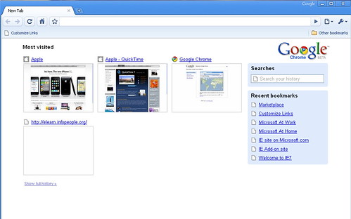 screenshot of google chrome