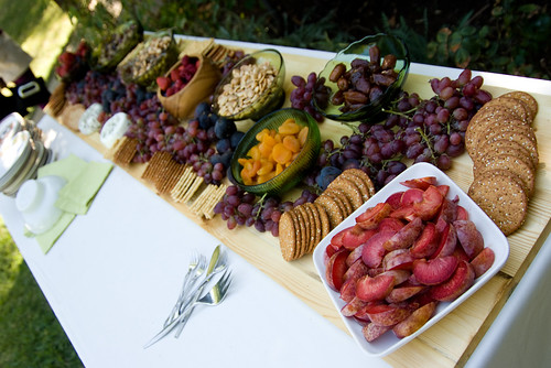 A Backyard Wedding: Details: Food (yum