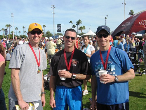 Lance, Tim Marker, and Scott post race