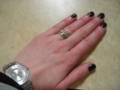 dark purple nails