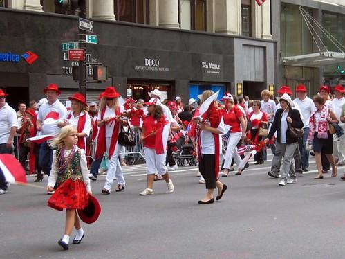 Polish parade on 5th Avenue.