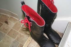 Muck boots!