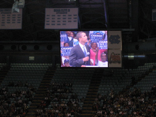 Obama at Dean Dome, Chapel Hill, April 28, 2008