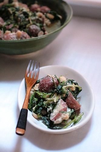 Red Potato and Sauted Greens Salad