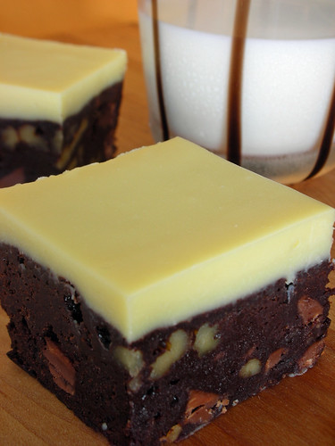 quintuple chocolate brownies