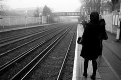 Sydenham Station in fog