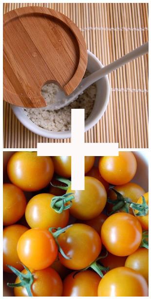 Salt and tomatoes... heaven