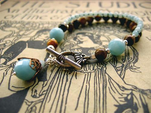 My Lady bracelet (tigereye/aqua)